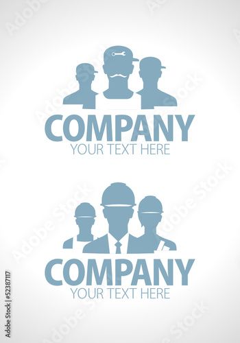 Builders and repairers team silhouette designs