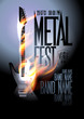Metal fest design template.