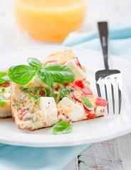 Tomaten Feta Omelett
