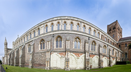 st albans cathedral wall england