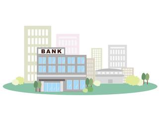 銀行 ビル群