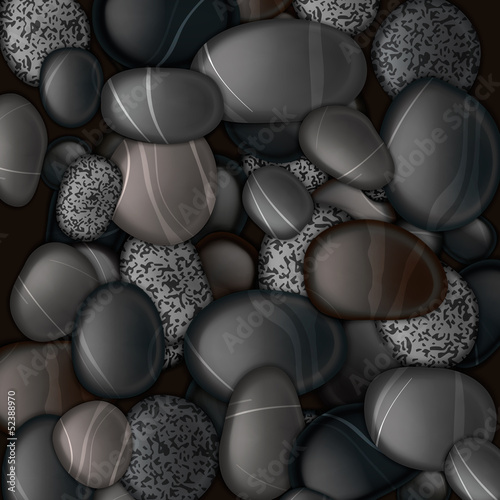 Black pebble stones background, vector Eps10 illustration.