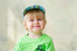 Portrait of an adorable and funny little boy smiling
