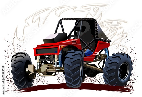 Foto op Aluminium Cartoon cars Vector Cartoon Buggy