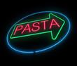 Neon pasta sign.