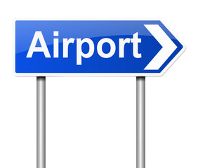 Airport sign.