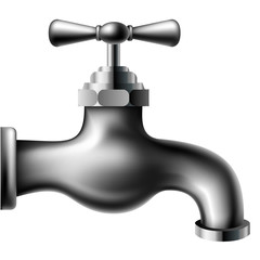 Metalic water tap