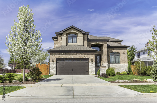 Traditional American Home with Garage - 52390377