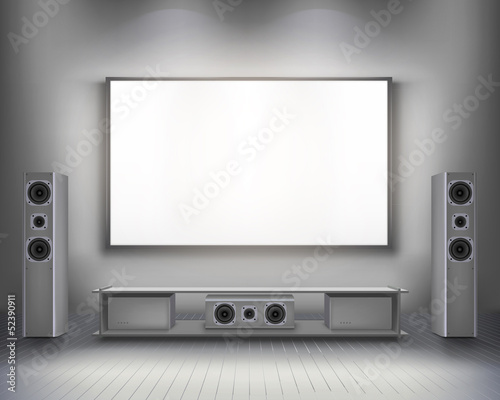 Home cinema.  Vector illustration.