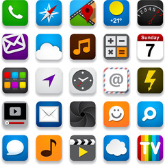 Set of app icons.