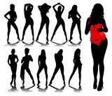 Fototapety Sexy woman silhouettes