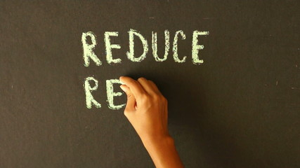 Reduce, Reuse, Recycle Chalk Drawing