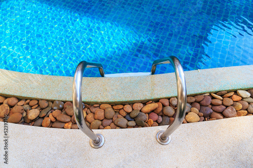 poster of swimming pool blue water detail in summer time