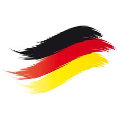 Flagge Deutschland - Pinselstrich