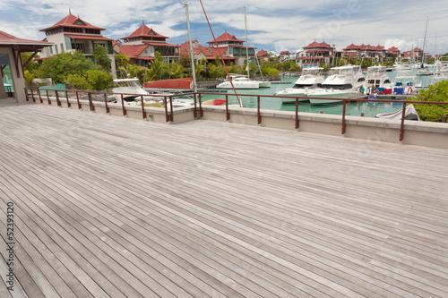 canvas print picture terrasse, Eden Island, Victoria, Seychelles