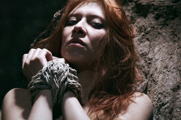 nude redhaired woman