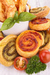 assortment of puff pastry appetizer