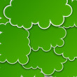 Paper green paper cloud background.