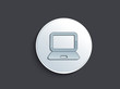 abstract glossy laptop icon
