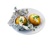 Oven baked potato with sour cream