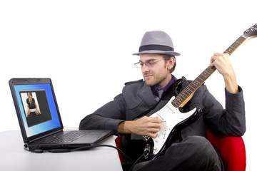 serenading online by webcam chat.