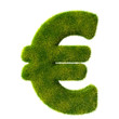 Euro sign from fresh green grass