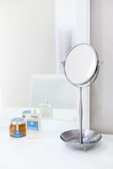 mirror in toilet, spa