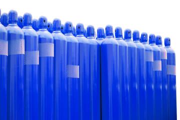 blue gas tank