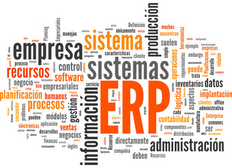 ERP (Enterprise Resource Planning; tag cloud español)