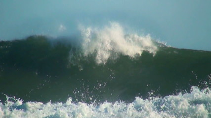 Big wave ocean slow motion
