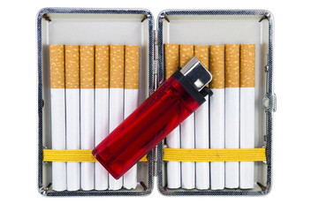 cigarette case with lighter