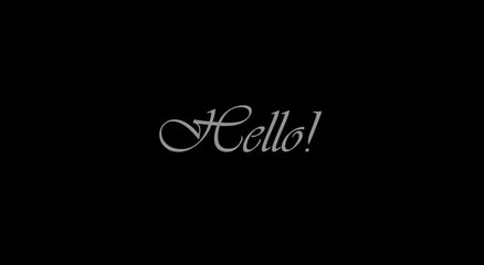 ''Hello'' Curtain