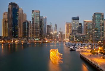 Dubai Skyline from Marina