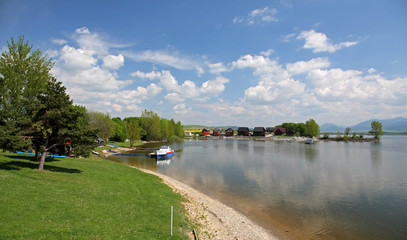 Liptovska Mara - water basin in region Liptov, Slovakia