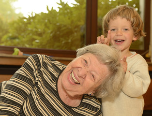 Grandma & Kid Playing at Home 3