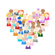 People icons, heart shape for your design
