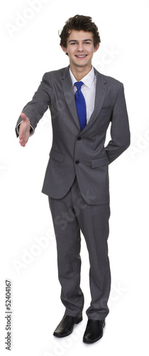 Business Man Extending Hand To Shake