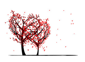 Trees of love for your design