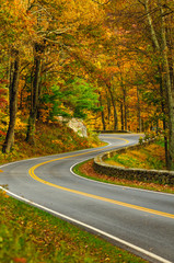 S-Curved Road On Skyline Drive
