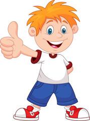 Cartoon boy giving you thumbs up