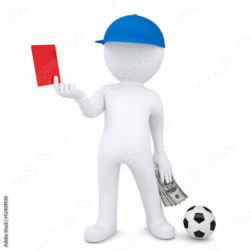 3d football referee took bribe