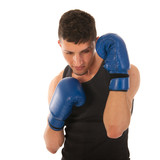 defending boxing man