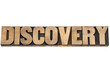 discovery word in wood type