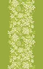 Vector Green underwater plants vertical seamless pattern