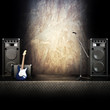 Heavy metal rocker stage themed background