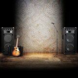 Fototapety Music stage, Country themed background.