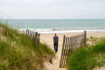 Beach island de Oleron France