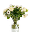 Mixed bouquet white flowers