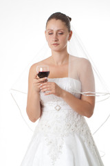 Bride giving a toast