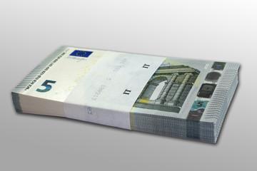 Mazzetta 5 Euro sfondo grigio